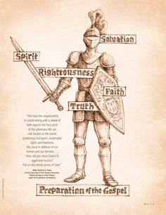 Put on the armor of GOD and be comforted. I wake up every morning with the armor of god. Lds Seminary, Shield Of Faith, A Course In Miracles, Scripture Study, Family Scripture, Scripture Cards, Book Of Mormon, Spiritual Warfare, Latter Day Saints