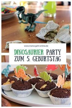 Our Dinosaur Birthday Party for the Birthday - Kindergeburtstag - Baby Activities Dinosaur Birthday Party, Birthday Diy, Birthday Party Themes, Birthday Recipes, Birthday Ideas, Childrens Party, Diy Party, Fans, Shopkins