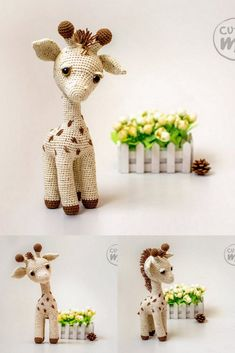You can find the latest posts about Amigurumi. In this article we share 7 beautiful amigurumi patterns.Amigurumi shares that your children will admire here. Crochet Animal Patterns, Crochet Patterns Amigurumi, Crochet Animals, Crochet Dolls, Knitting Patterns, Cute Crochet, Crochet Crafts, Yarn Crafts, Crochet Projects