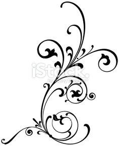 cute scroll stencil designs. Vectorized Scroll Design Cute tea time card  Cup with floral design elements Menu for