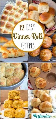 12 AMAZING Delicious & Easy Dinner Roll Recipes ... great for holiday dinners!