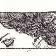 """55 Likes, 4 Comments - Las Petite (@laspetite) on Instagram: """"Braids. . . . #illustration #illustoday #illustrationdaily #illustrateddiary #ilustracion #braid…"""""""