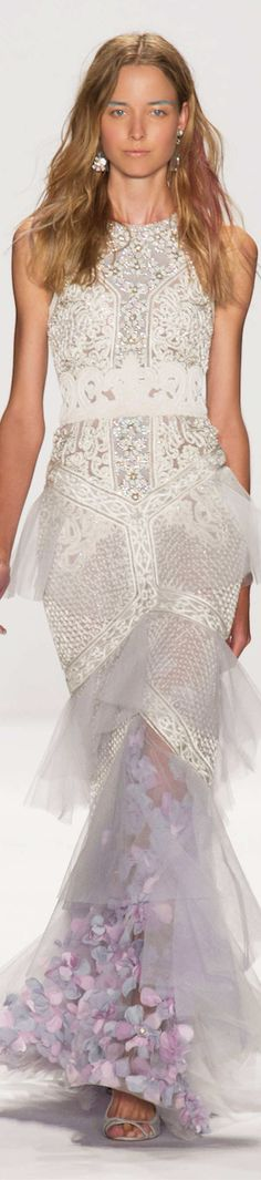 Badgley Mischka, New York Fashion Week, Frühjahr-/Sommermode 2015 Look Fashion, Runway Fashion, Fashion Show, Fashion Design, Fashion Images, Dress Couture, Vestidos Fashion, Belle Silhouette, Fru Fru