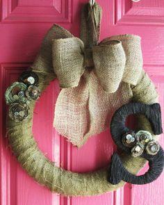 Burlap Wreath - DIY