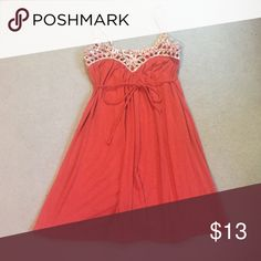 Orange Mini Dress This dress is perfect for date night. It's soft, delicate, and super feminine! No trades! Wet Seal Dresses Mini