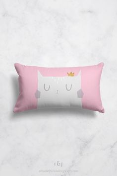 """New super-cute cat throw pillow cover by Otto and Pixels. The pillow sham is available both as square and rectangular pillow cover. The fabric is polyester with a linen feel. You find your cat pillow case in my Etsy shop. Price from 25 EUR. Click to buy!  Use coupon code """"PINFRIENDS"""" and get 10% off!  #kidspillow #pillowcase #throwpillow #catpillow #nurserydecor #catdecor #kidsroomdecor #babygift"""