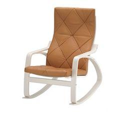 IKEA - POÄNG, Rocking chair, Seglora natural, , Highly durable full-grain…