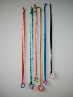 Make Recycled Necklaces - these would look great as a piece of wall art