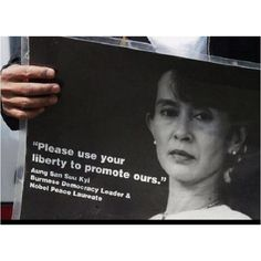"""Always positive: Aung San Suu Kyi  """"Don't feel let down, or weak. History is always changing,''"""