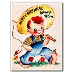 >>>best recommended          	Young Man - Retro Happy Birthday Post Cards           	Young Man - Retro Happy Birthday Post Cards We have the best promotion for you and if you are interested in the related item or need more information reviews from the x customer who are own of them before please...Cleck Hot Deals >>> http://www.zazzle.com/young_man_retro_happy_birthday_post_cards-239736837432161738?rf=238627982471231924&zbar=1&tc=terrest