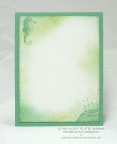 inside view of handmade card from Stamp & Create With Sabrina ... By the Tide ... Stampn' Up!