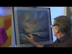 Water Reflections and Snow in Pastel with Les Darlow - YouTube
