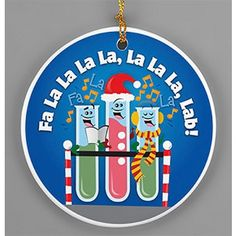 """Fa La La La Lab"" Porcelain Ornament"
