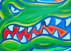 Florida Gators painting sports art college by crockerart on Etsy, $50.00