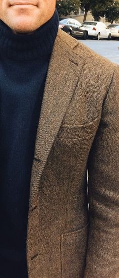 Turtleneck and urban tweed
