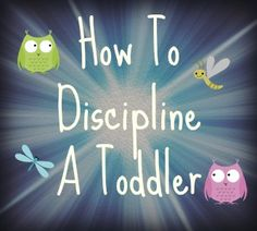 Great information and tips on how to discipline a toddler. Many of these suggestions would work for a young preschooler as well. Much more than punishment!