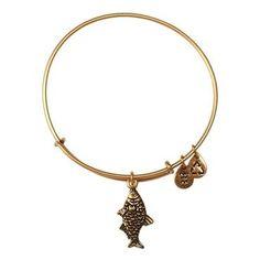 all alex and ani bracelets   Alex and Ani Fish Charm Bangle Bracelet - Russian Gold Finish - Item ...