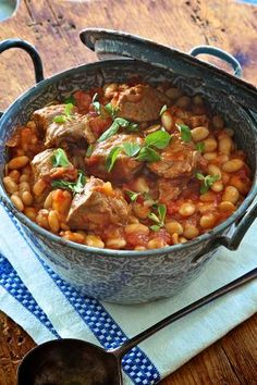 Feed a crowd ... Lamb, white bean and marjoram casserole. Goat shoulder if you can