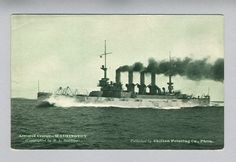 Armored Cruiser USS Washington ACR-11 Unused Postcard - Chilton Printing Co.