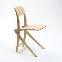 Chair No 6 - A modern high end chair design by Alexander Lorenz. This very light and elastic chair with its light sculptural shape fits perfect into small rooms. Cantilever Chair, No 6, Small Rooms, Chair Design, Animation, Shape, Sculpture, Unique, Modern