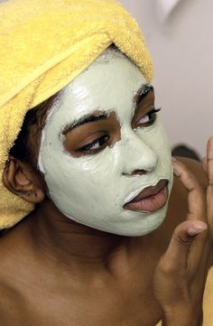 Amazing Avocado: Seven Cool Beauty Recipes That Won't Break Your Bank! - Page 2 of 8 - MadameNoire Homemade Face Masks, Diy Face Mask, Face Skin, Face And Body, Heart Shaped Lips, Avocado Face Mask, Charcoal Face Mask, Black Skin Care, Home Remedies For Hair