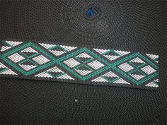 Colors symbolizing and defying the maori culture Green coloured taniko Pattern