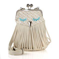 Rara Avis by Iris Apfel Owl Crossbody Bag with Trim