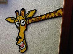 Giraffe, hama, perler, beads, bügelperlen