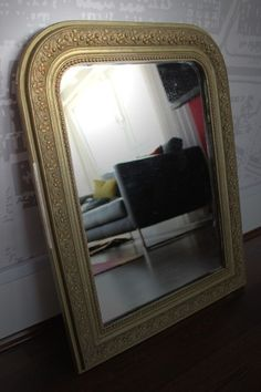 French Arch Gold Framed mirror