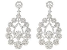 Charles Winston For Bella Luce (R) 5.33ctw Rhodium Plated Sterling Silver Earrings