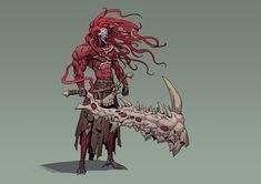 The Fleshy / Guillem Ferrer Character Concept, Character Art, Concept Art, Weird Creatures, Fantasy Creatures, Dark Souls, Creature Concept, Anime, Monster