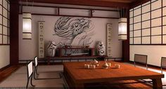 Oriental interior decorating in the Japanese style is distinct and versatile, suitable for contemporary apartments and small homes. Asian interior decorating in Japanese style is about functionality and simplicity, natural materials and elegant feel.    Oriental interior decorating ideas include nat