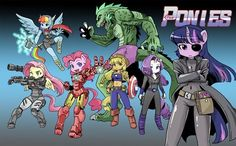 The Pony Avengers. This....this works. Discord would be Loki, I assume? (Who would be Coulson?)