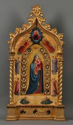 After Fra Angelico (Italian, c.1400 - 1455). Reproduction of the Madonna della Stella, Shrine.