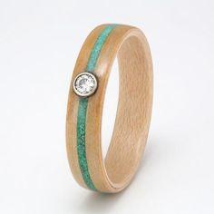 Cedar with Maple, Turquoise, Malachite