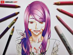 My drawing of Rize Kamishiro from Tokyo Ghoul :D
