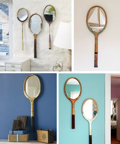 I don't know if I will ever have a room where a tennis racket mirror would fit, but I thought these were still pretty neat