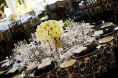 Black and White Damask Wedding -  Rachael Nic