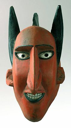 Bozo Devil mask from Mali, African masks. It is funny because he has pointy ears.