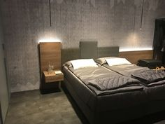 The ambient lighting in the bedrooms needs to be particularly pleasant to the eyes and subtle