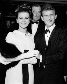 Bobby Rydell and Ann Margaret at the opening of Bye Bye Birdie - 1963
