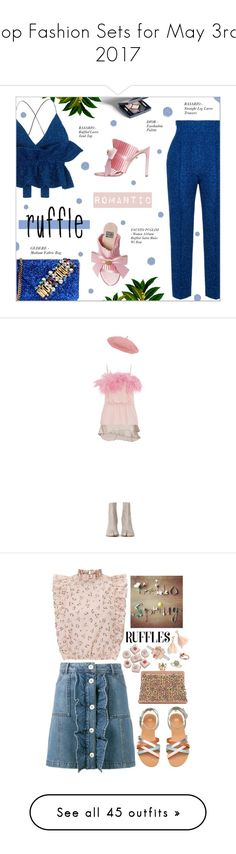 """""""Top Fashion Sets for May 3rd, 2017"""" by polyvore ❤ liked on Polyvore featuring Rasario, FAUSTO PUGLISI, GEDEBE, FaustoPuglisi, lurex, gedebe, ruffledtops, Haider Ackermann, Prada and Maison Margiela"""