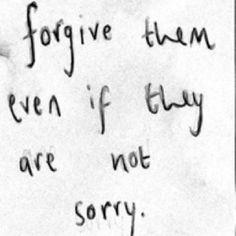 Forgiveness......can be hard.