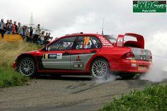 Cuttin' corners with the E-brake in a Mitsubishi Lancer...
