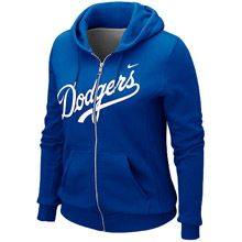 Los Angeles Dodgers Womens Full Zip Classic Hoody by Nike