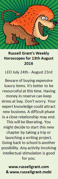 russell grant leo weekly horoscope