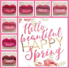 Time for new lipstick! These LipSense shades are perfect for the spring season. Give Roseberry, Plumeria, Sassy Z, Luv It, Aussie Rose, Mod Magenta, and Bella a try! Lips by Stephie 406510