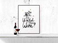 Kunstdruck+Poster+/+Be+Nice+von+typealive+auf+DaWanda.com