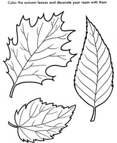 Fall Coloring Book Pages Falling leaves Embroidery Patterns