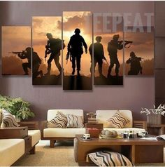 HD Printing abstract soldiers sunset painting home decor canvas wall art painting picture canvas painting picture Framed Wall Art, Canvas Wall Art, Wall Art Prints, Canvas Prints, Painting Canvas, Canvas Canvas, Large Canvas, Wall Art Pictures, Canvas Pictures